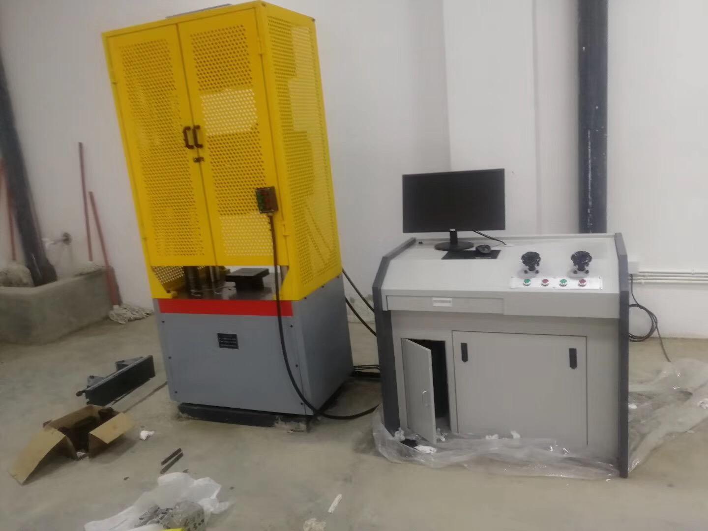 绵阳高校实验室微机屏显液压万能试验机验收完成